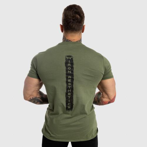 Pánske fitness tričko Iron Aesthetics Force, zelené