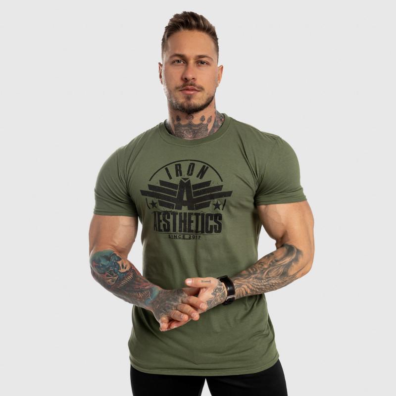 Pánske fitness tričko Iron Aesthetics Force, zelené-3