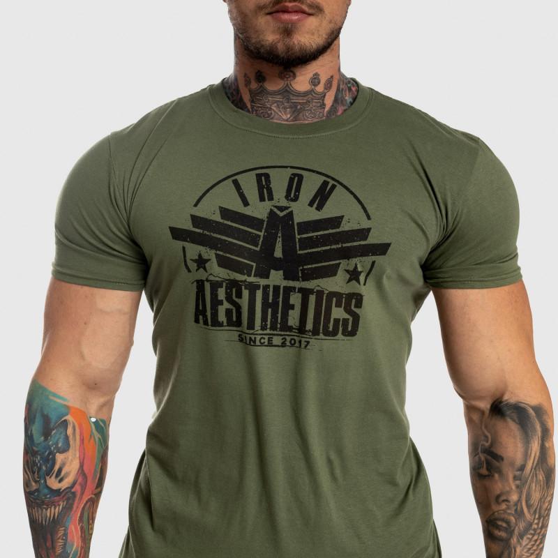 Pánske fitness tričko Iron Aesthetics Force, zelené-5