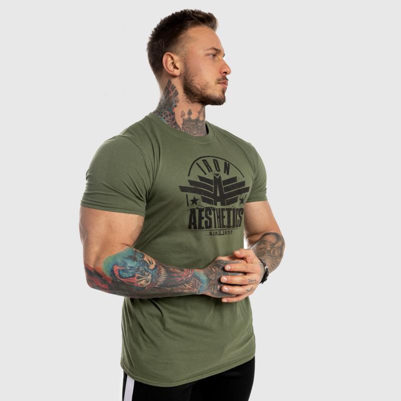 Pánske fitness tričko Iron Aesthetics Force, zelené-6