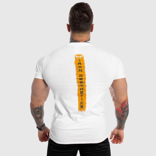Pánske fitness tričko Iron Aesthetics Force, biele