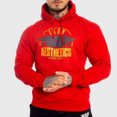 Fitness mikina bez zipsu Iron Aesthetics Force, červená