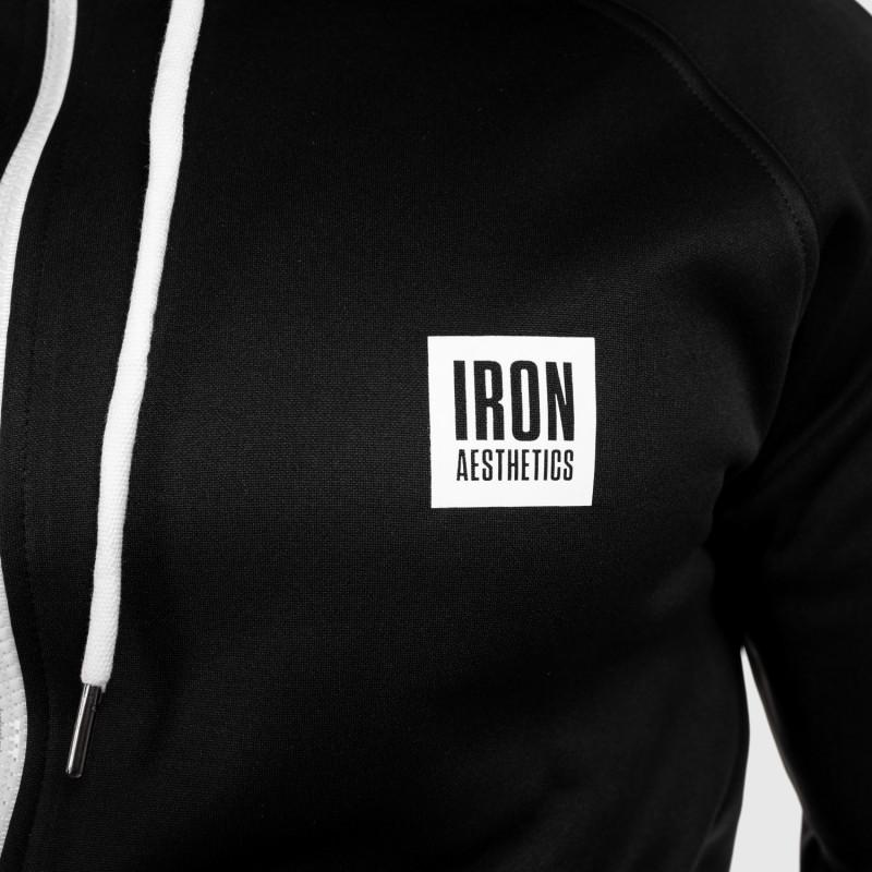 Športová mikina so zipsom Iron Aesthetics Boxed, čierna-7