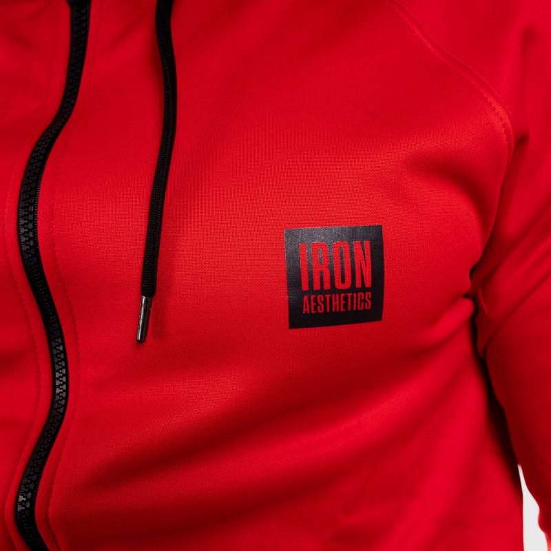 Športová mikina so zipsom Iron Aesthetics Boxed, červená-7