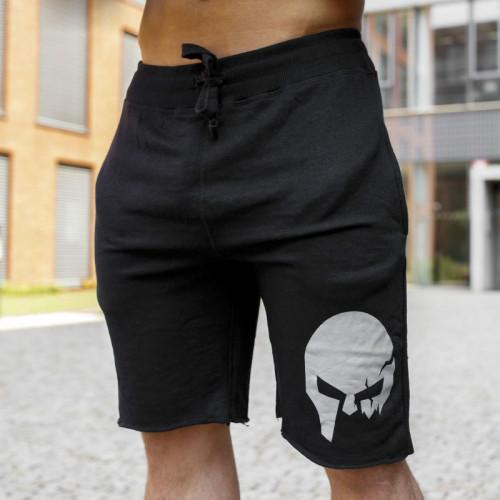 Pánske teplákové kraťasy Iron Aesthetics Skull, black