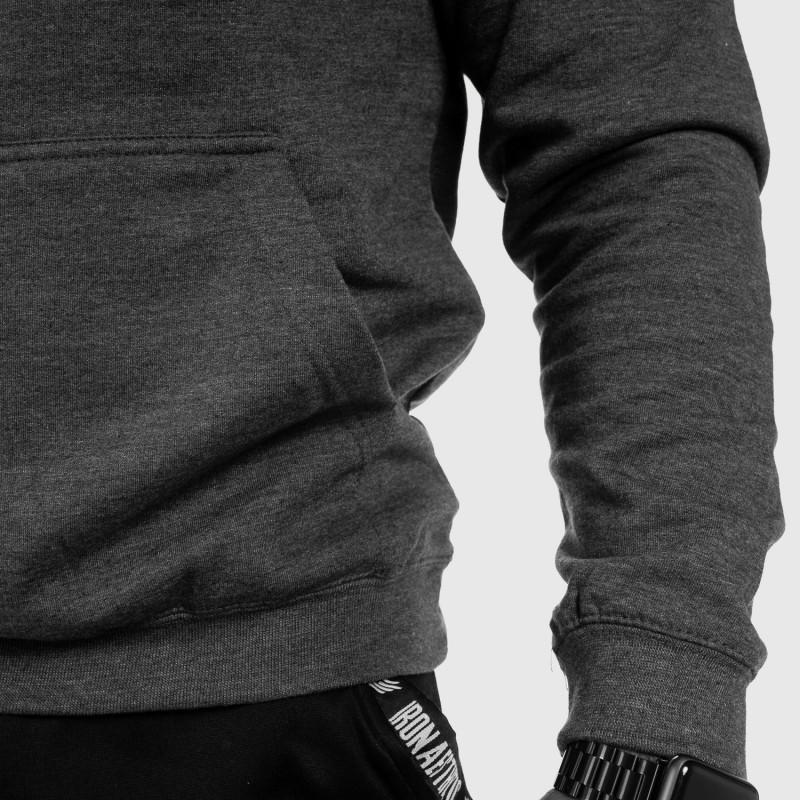 Fitness mikina bez zipsu Iron Aesthetics Force, Charcoal Grey-11