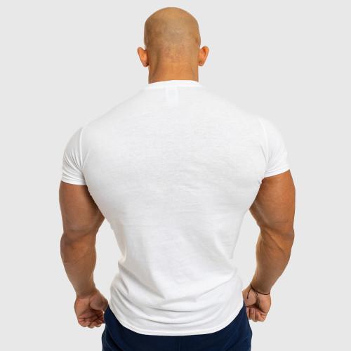 Pánske fitness tričko Iron Aesthetics Be Stronger, biele
