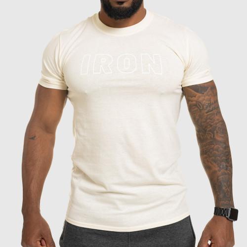 Pánske fitness tričko IRON, pieskové