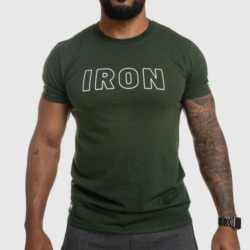 Pánske fitness tričko IRON, zelené