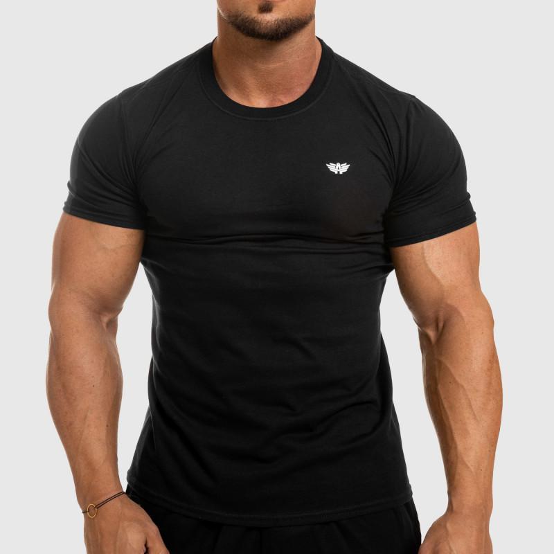 Pánske fitness tričko Iron Aesthetics Standard, čierne-1