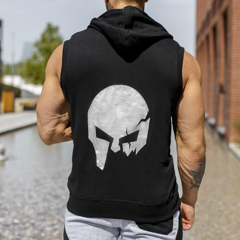 Pánska mikina Iron Aesthetics Sleeveless Skull, black&grey-2