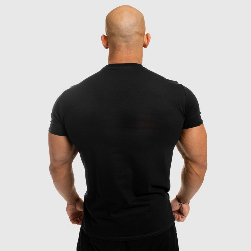 Pánske fitness tričko Iron Aesthetics Standard, čierne