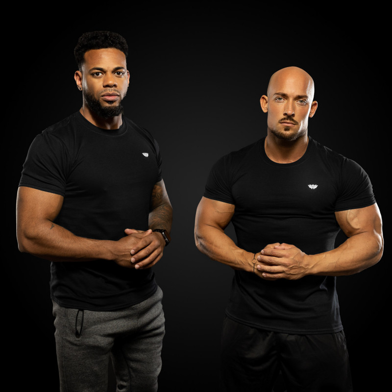 Pánske fitness tričko Iron Aesthetics Standard, čierne-3