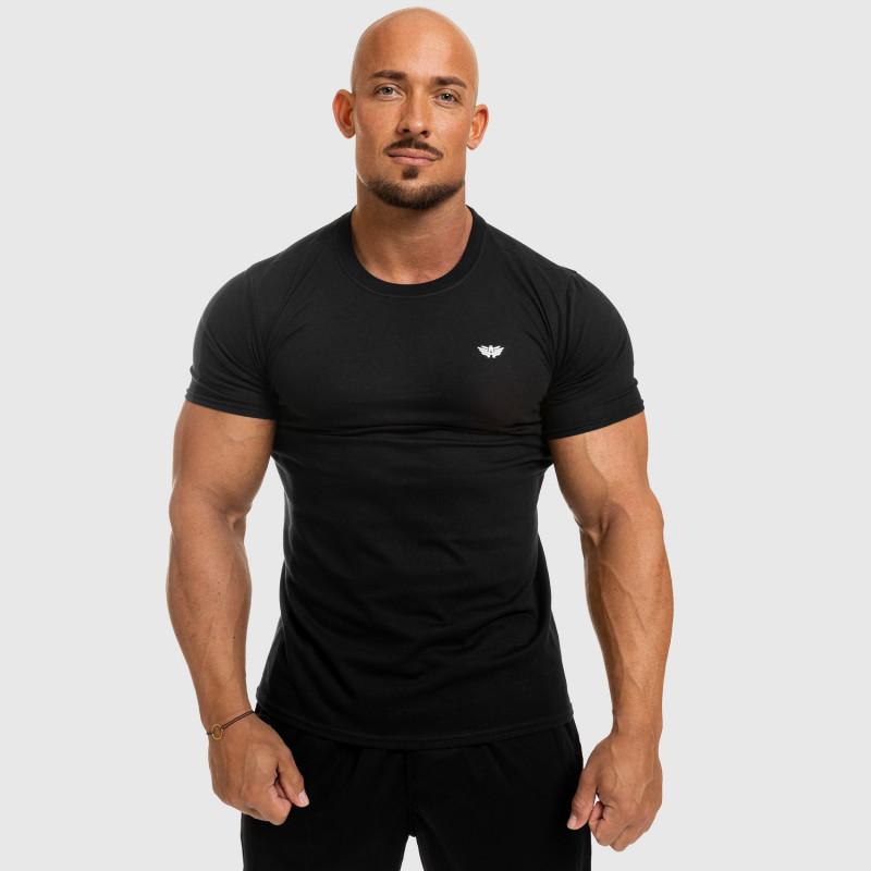Pánske fitness tričko Iron Aesthetics Standard, čierne-5