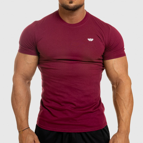 Pánske fitness tričko Iron Aesthetics Standard, bordové