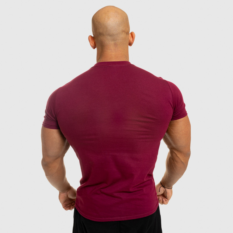 Pánske fitness tričko Iron Aesthetics Standard, bordové-2