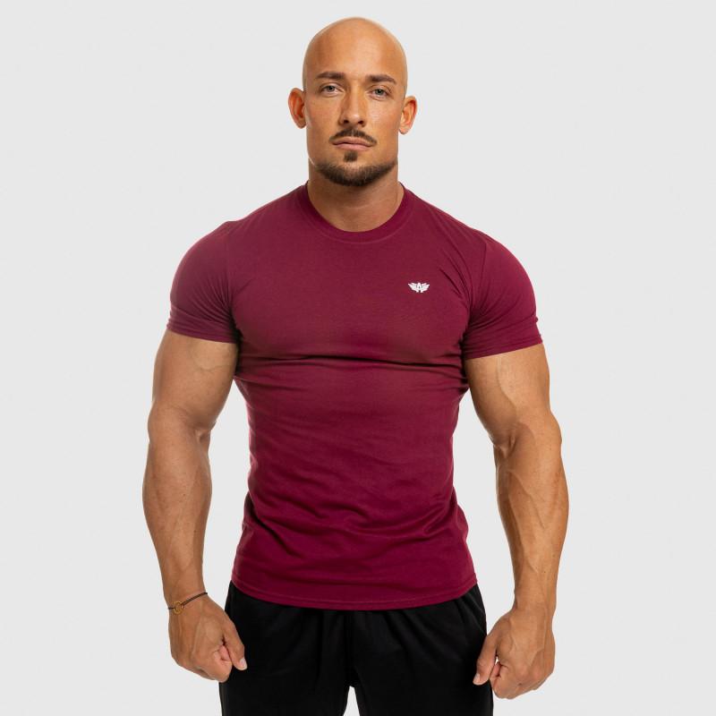 Pánske fitness tričko Iron Aesthetics Standard, bordové-6