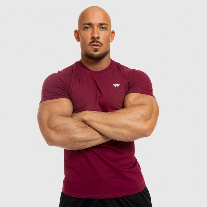 Pánske fitness tričko Iron Aesthetics Standard, bordové-7