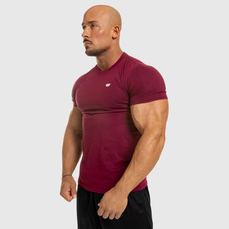 Pánske fitness tričko Iron Aesthetics Standard, bordové-8