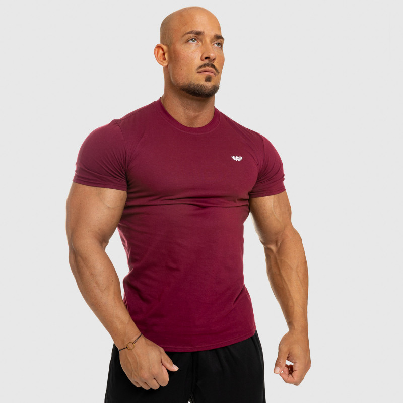 Pánske fitness tričko Iron Aesthetics Standard, bordové-9