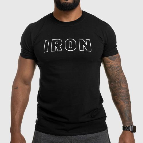 Pánske fitness tričko IRON, čierne
