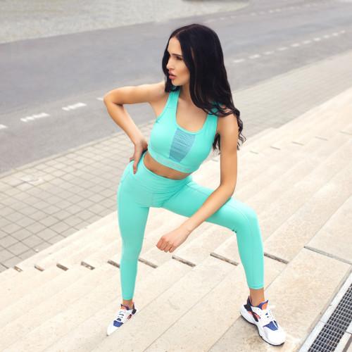 Dámska fitness súprava Iron Aesthetics Pocket, mentolová