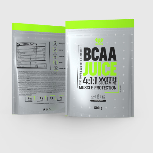 BCAA Juice 4:1:1 + Glutamín 500 g - Iron Aesthetics