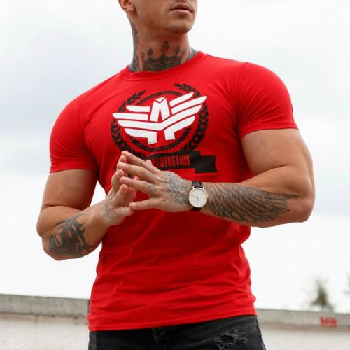 Pánske fitness tričko Iron Aesthetics Triumph, červené
