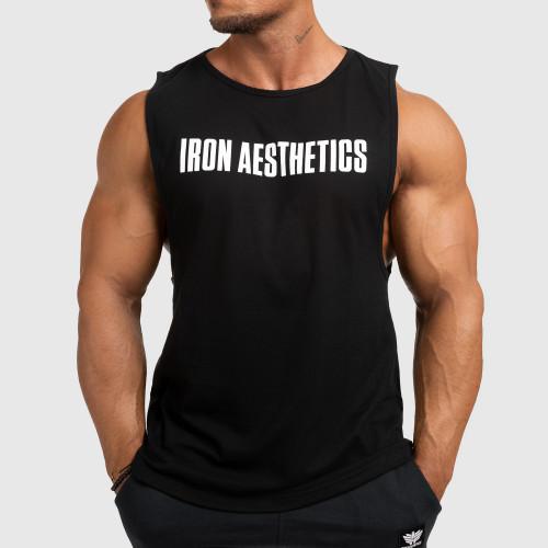 Pánske fitness TIELKO Iron Aesthetics Signature, čierne