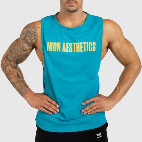 Pánske fitness TIELKO Iron Aesthetics Signature, tyrkys