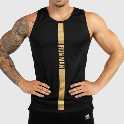 Pánske fitness TIELKO Iron Aesthetics Iron Man, black&gold