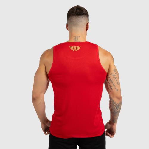 Pánske fitness TIELKO Iron Aesthetics Iron Man, red&gold