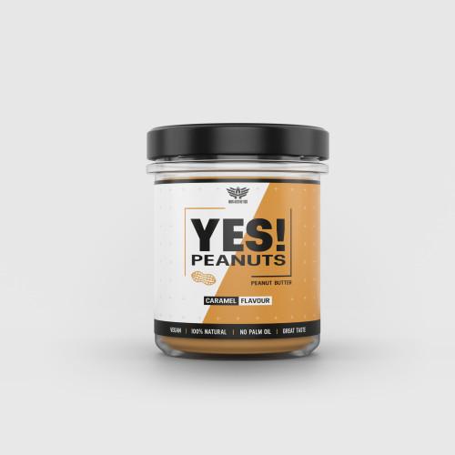 Arašidové maslo YES! Peanuts karamel 340 g - Iron Aesthetics