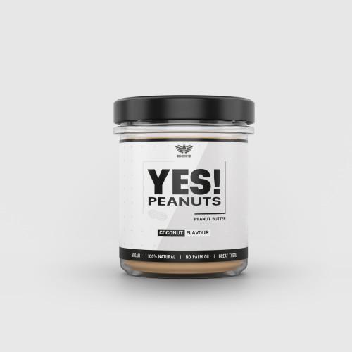 Arašidové maslo YES! Peanuts kokos 340 g - Iron Aesthetics