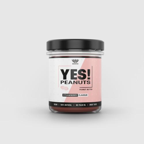 Arašidové maslo YES! Peanuts jahoda 340 g - Iron Aesthetics