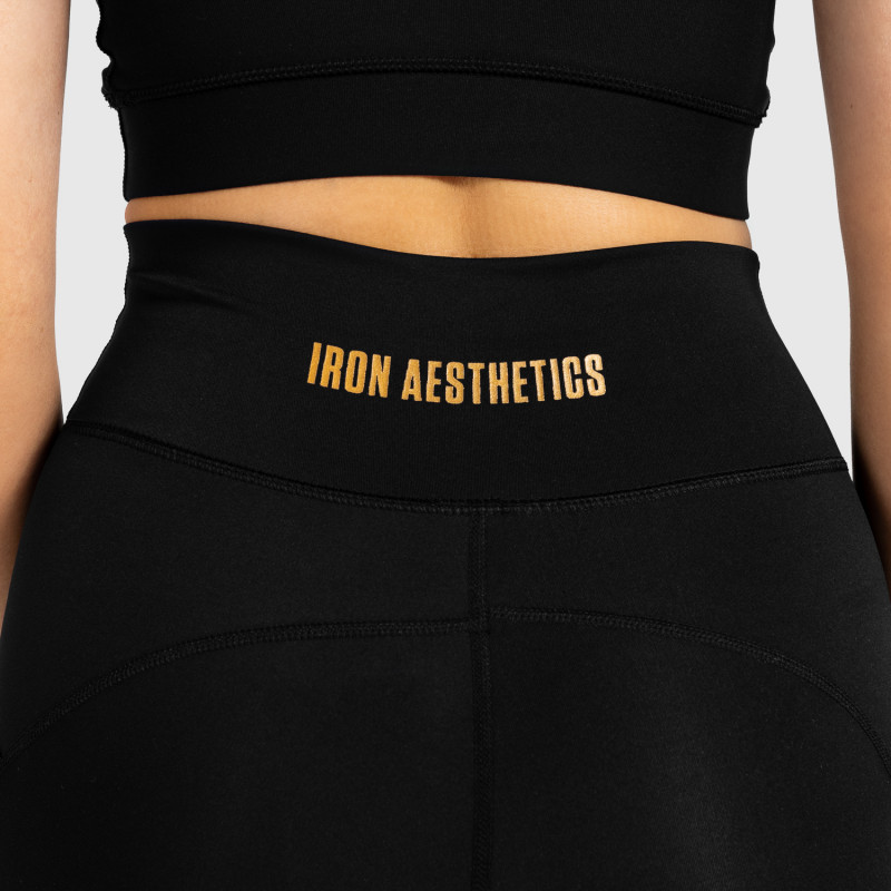Dámske kraťasky Iron Aesthetics Pocket, čierne-10