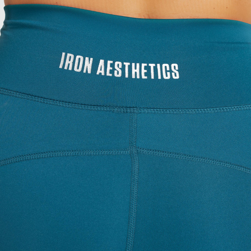 Dámske kraťasky Iron Aesthetics Pocket, smaragdové-6