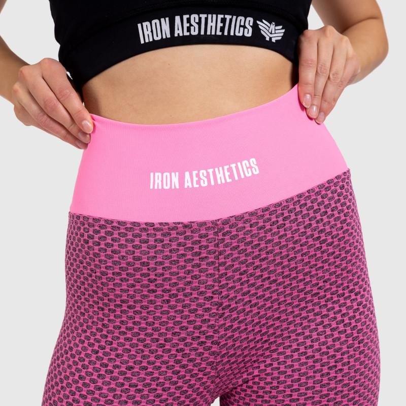 Dámske vrúbkované legíny Iron Aesthetics, ružové-4