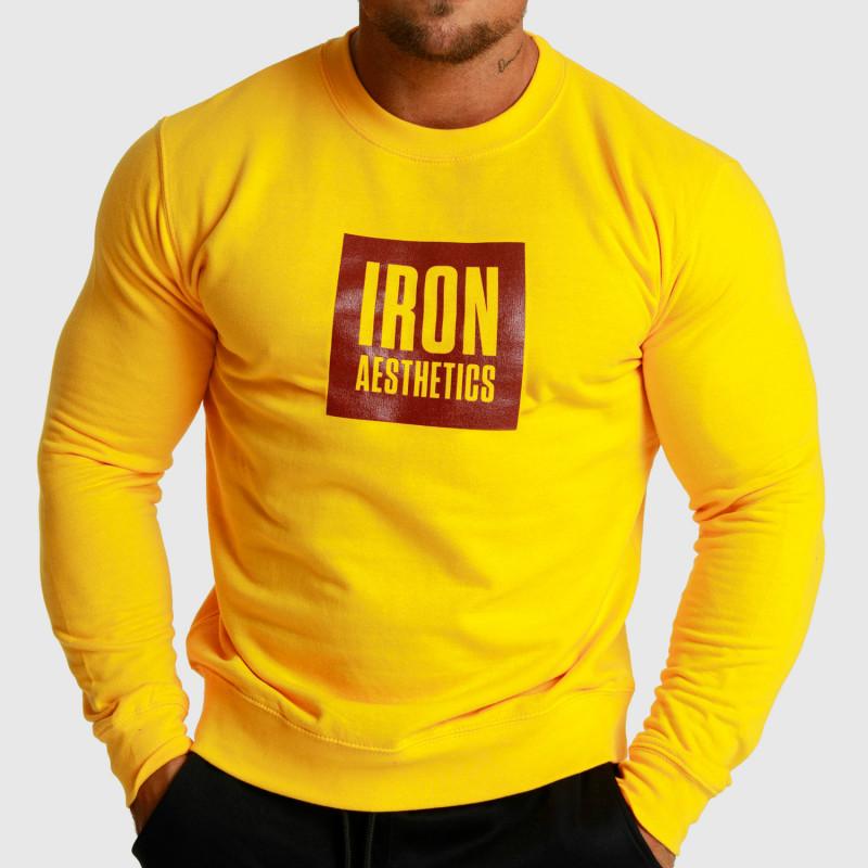Mikina bez kapucne Iron Aesthetics Boxed, žltá-1