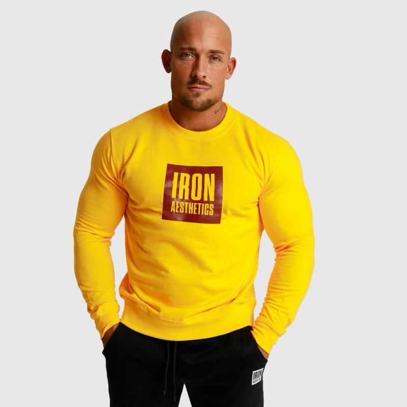 Mikina bez kapucne Iron Aesthetics Boxed, žltá-5