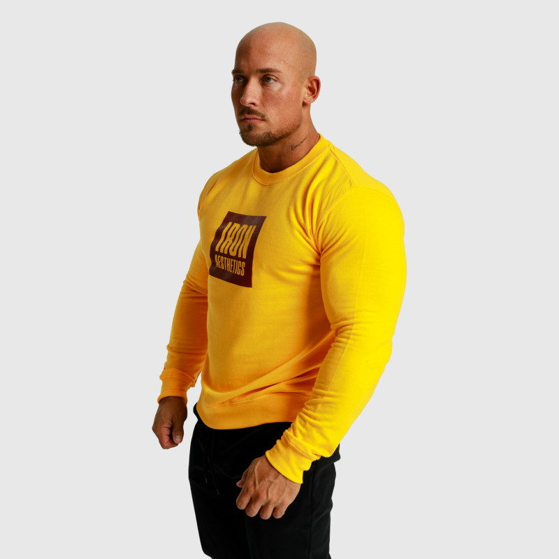 Mikina bez kapucne Iron Aesthetics Boxed, žltá-7