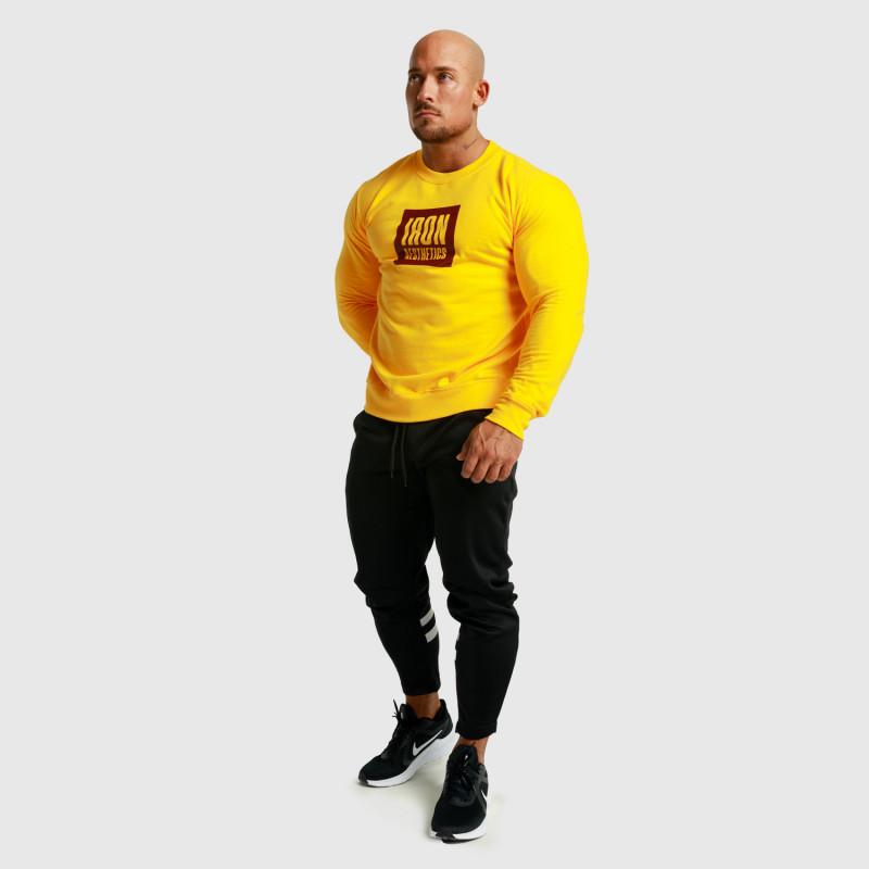 Mikina bez kapucne Iron Aesthetics Boxed, žltá-6