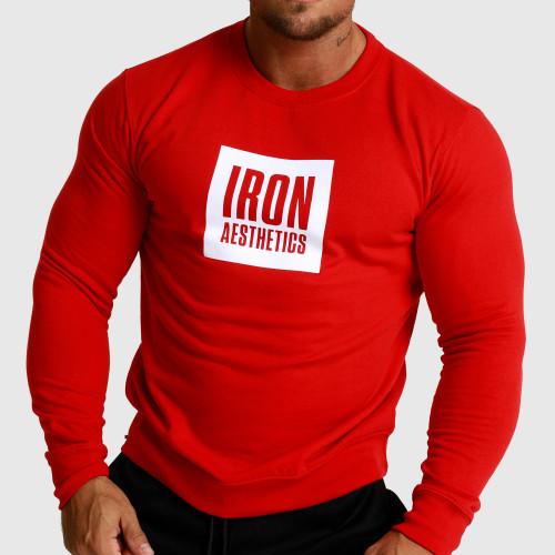Mikina bez kapucne Iron Aesthetics Boxed, červená
