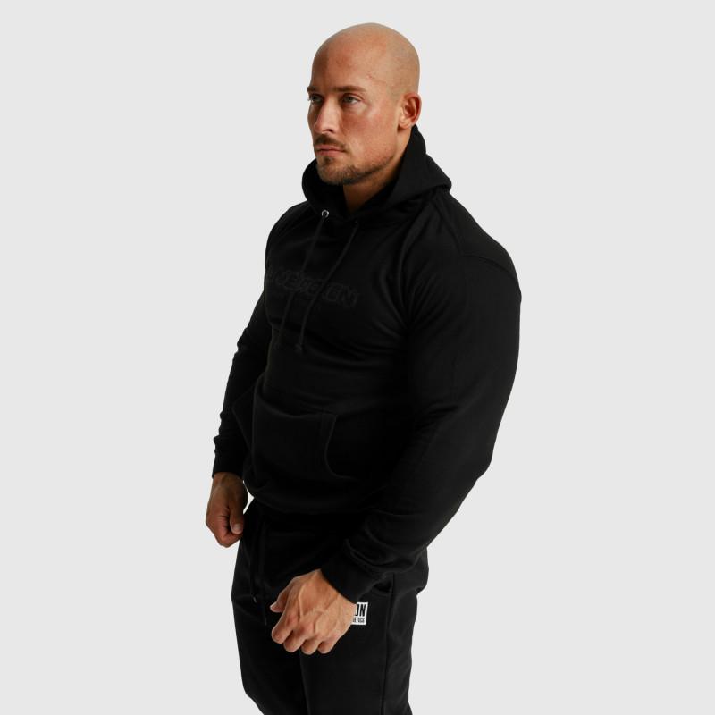 Fitness mikina bez zipsu Iron Aesthetics Unbroken, čierna-6
