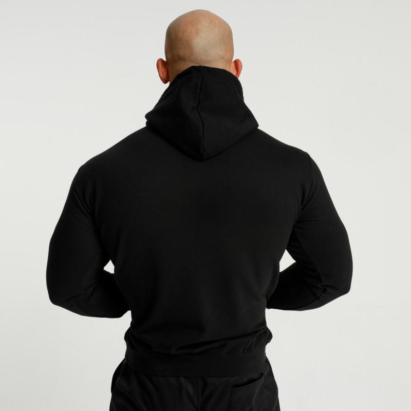 Fitness mikina bez zipsu Iron Aesthetics Unbroken, čierna-3
