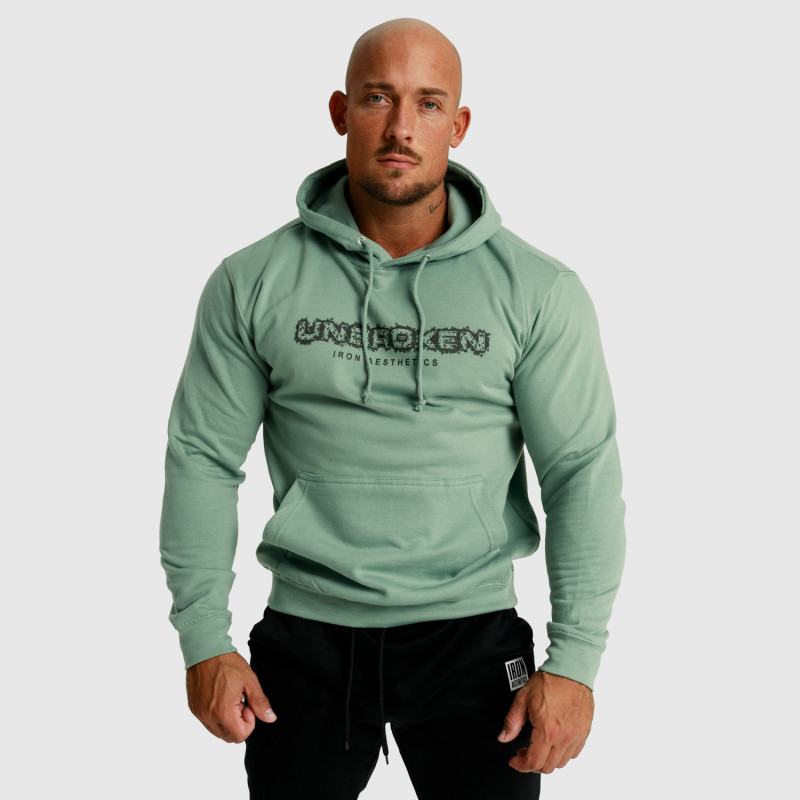 Fitness mikina bez zipsu Iron Aesthetics Unbroken, dusty green-4