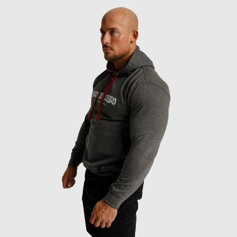 Fitness mikina bez zipsu Iron Aesthetics Unbroken, sivá-6