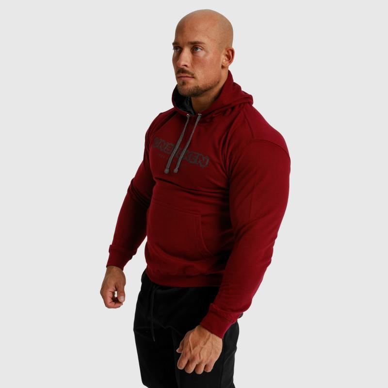 Fitness mikina bez zipsu Iron Aesthetics Unbroken, bordová-7
