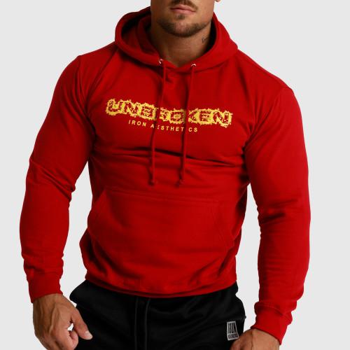 Fitness mikina bez zipsu Iron Aesthetics Unbroken, červená
