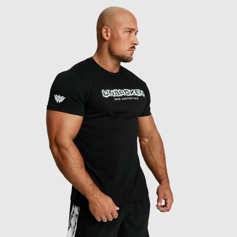 Pánske fitness tričko Iron Aesthetics Unbroken, čierne-7